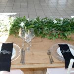 The Bridal tabel at Garath and Tiffany's wedding at Lace on Timber with Vaal Wedding DJ