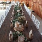 Table settings at The Barn, Vanderbijlpark