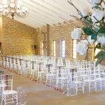 A inside view looking backwards in the chapel at Dylan and Carla's Wedding at Benedetto On Vaal Venue