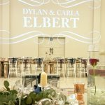 Dylan and Carla's Wedding monogram at Benedetto On Vaal Venue