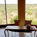 The view from the chapel at Bona Bona Game Lodge on Emily and Nicholas's wedding