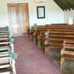 The inside view of the chapel at Bona Bona Game Lodge on Emily and Nicholas's Wedding