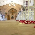Another view looking forward inside the chapel at Dylan and Carla's Wedding at Benedetto On Vaal Venue