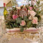 Some more flower arrangements at Bona Bona Game Lodge on Emily and Nicholas's Wedding