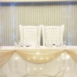 The main table at Dylan and Carla's Wedding at Benedetto On Vaal Venue